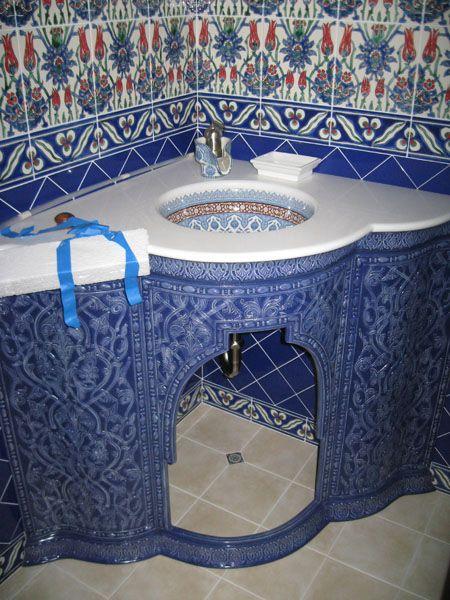 Тумба под мойку. Мавританский стиль