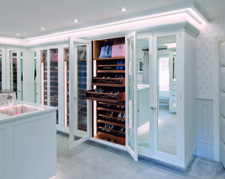 Clever storage is a work of art – create a space for everything with bespoke dressing room furniture #Smallbone