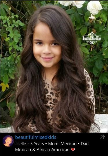 Mexican And African American Girl 5 Years Old