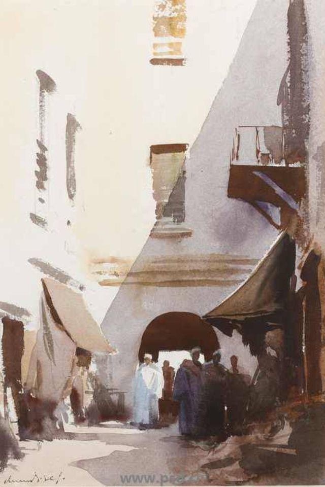 Edward Seago water color Archway Essaouria Morocco