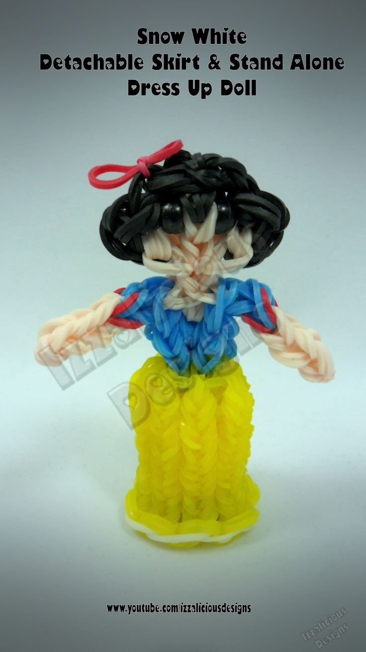 Rainbow Loom Princess Snow White Charm/Action Figure - Detachable Skirt ...