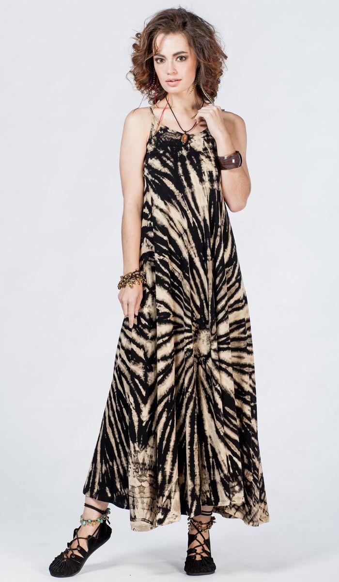 Черно-белое платье, платье в пол, этнический стиль, хиппи, тай-дай, узелковый батик, long dress, ethno, hippie, tie-dye, batic. 2280 рублей
