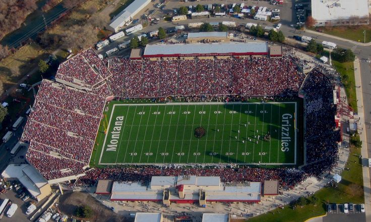 Go Griz Washington Grizzly Stadium University Of Montana