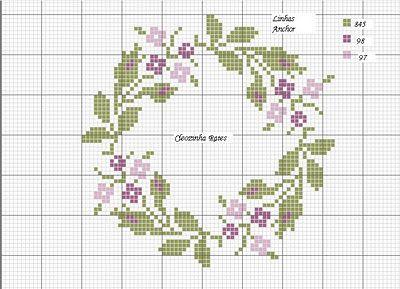 Bordados em Ponto Cruz da Cleozinha: Toalha de mesa - andamento do bordado