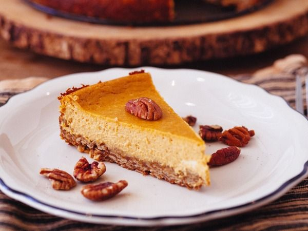 Pumpkin Goat Cheese Cheesecake, Because Thanksgiving is Over but ...