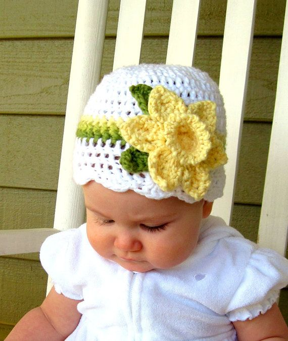 Hey, I found this really awesome Etsy listing at https://www.etsy.com/listing/44483620/crochet-daffodil-hat-baby-daffodil-hat