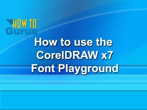 How to use the Font Playground - CorelDRAW x7 Text Effects Tutorial