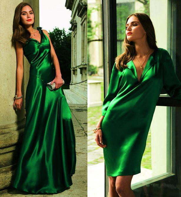 Emerald Green Dress Google Search Green Silk Dresses