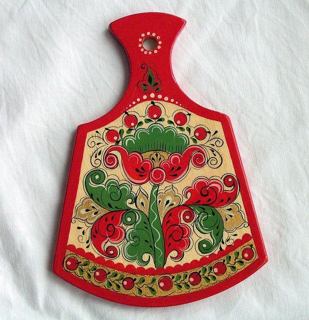 Severo-Dvinskaya decorative painting board
