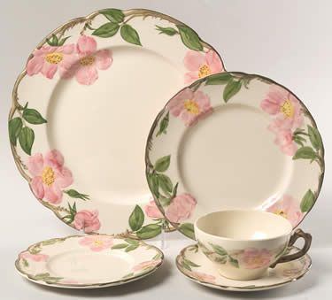 Desert Rose (USA Backstamp) by Franciscan - My dishes I got for my wedding 36 years ago! Still love them.