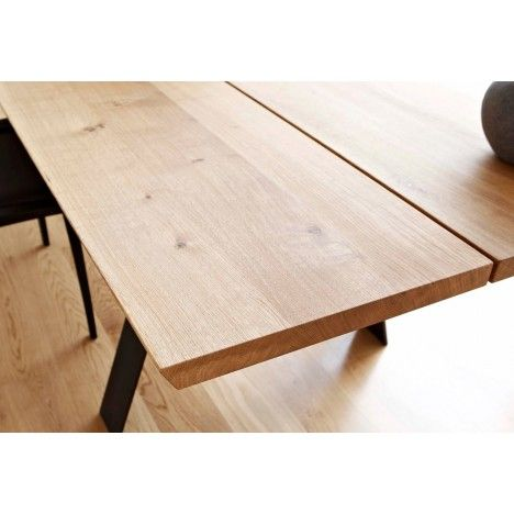 Table de repas Plank bois massif allongeable 8 a 14 P Non : Meubles design Naver…