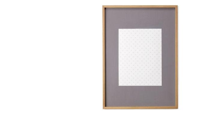 Portland Bilderrahmen 50 x 70 cm, Eiche mit grauem Passepartout (40 x 50 cm) | made.com