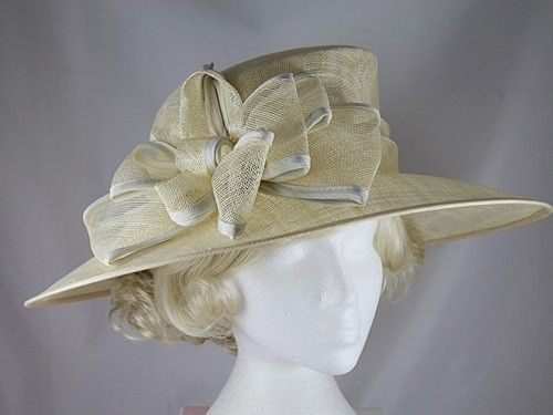 Wedding Hats 4U - Hawkins Collection Wide Loops Occasion Hat in Cream