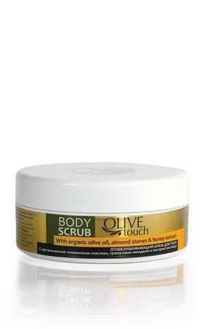 Body scrub with olive  Almond stones, organic Olive oil and Honey extract removes dead cells , regenerating, smoothing the skin, leaving it  with velvet touch. With oils  extracts of biological cultivation. #bodyscrub