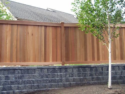 99 Best Images About Fence With Retaining Wall On