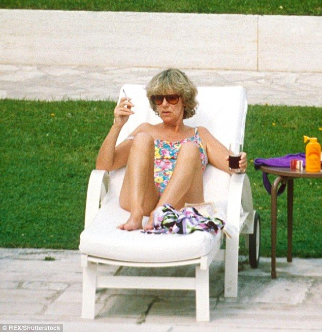 The Duchess of Cornwall - then Camilla Parker Bowles - pictured smoking in 1992