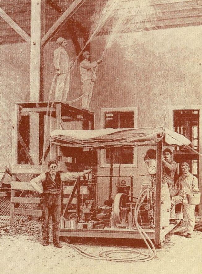 First Paint Spraying Machine, Circa 1891
