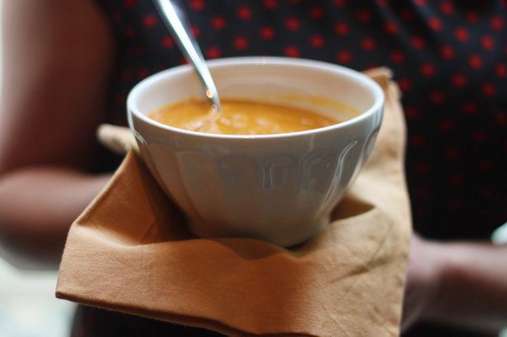 Njamelicious: Soep van geroosterde groenten met ras el hanout