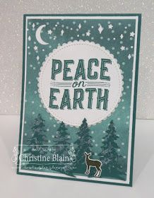 I'm back, with a Christmas card made with Stampin' Up! products, after a couple of weeks' break. I took a short holiday the first week...