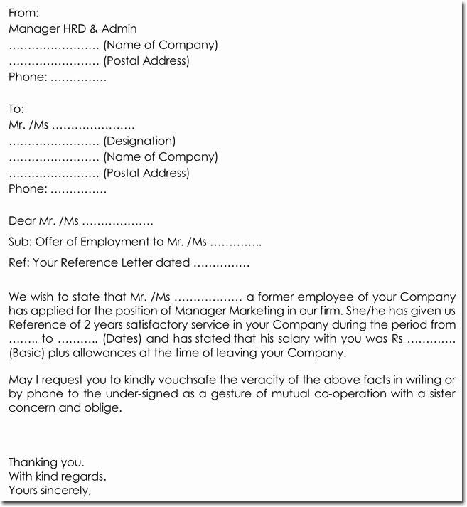 Employment Verification Request Form Awesome Sample Employment Verification Request Letters Replies Reference Letter Business Template Employment