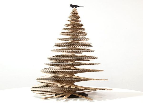 Celebrate a green Christmas by installing Cardboard Christmas Tree