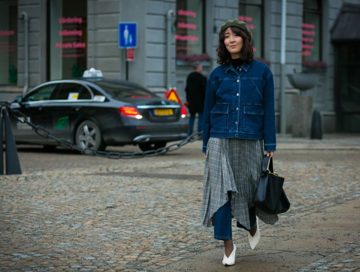 THE LOOK OF NOW: WORKWEAR BLUES As seen on Vogue's best dressed list from Stockholm Fashion Week, on creative advisor and influencer Shini Park. Double up in denim with our oversized denim jacket and fresh spring jeans.