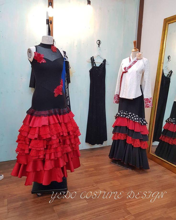 """좋아요 0개, 댓글 1개 - Instagram의 Jaeyoung Yang(@yang.jaeyoung)님: """"YEDO Costume Design. 우연히 입혀진 당의와 플라맹코 스커트~ 은근히 무언가 조화롭다~♡ #무대의상 #무용의상 #공연의상 #무대의상디자인 #일상 #마네킹…"""""""