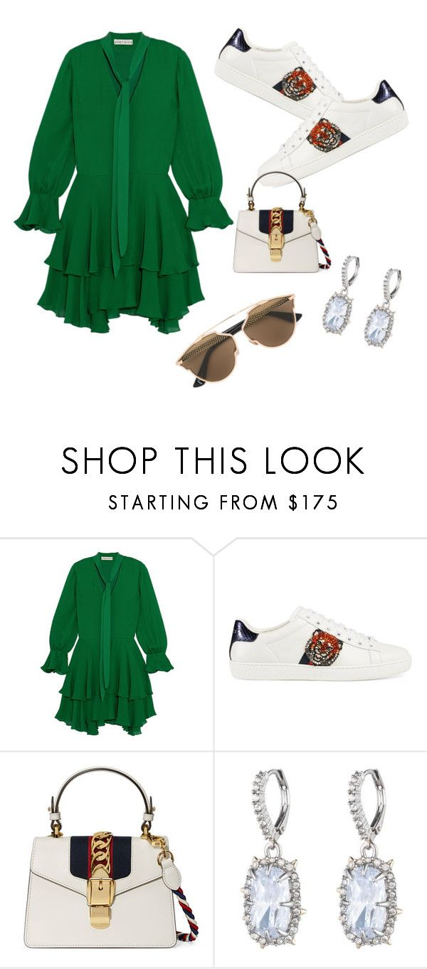 """""""Alice+Olívia"""" by erikg ❤ liked on Polyvore featuring Alice + Olivia, Gucci, Alexis Bittar and Christian Dior"""