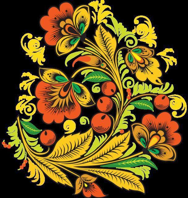 роспись хохлома узоры