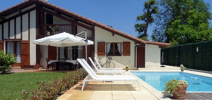 Location vacances maison Vieux-Boucau-les-Bains: Maison et piscine