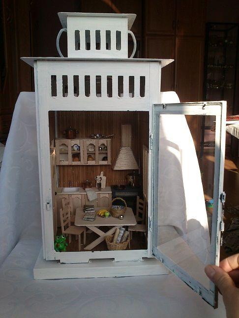 Lampion z kuchnią w drewnie :-)