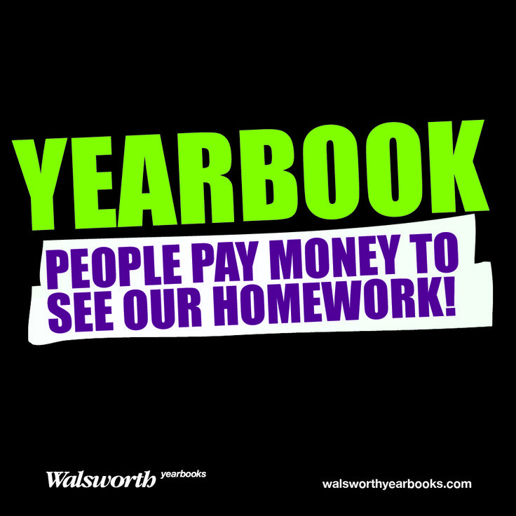 Enough said! Happy National Yearbook! #walsworth #yearbook #nyw2013