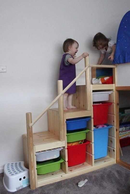 stairs toy storage. The space under a staircase can be used to keep everyday clutter out of the way.