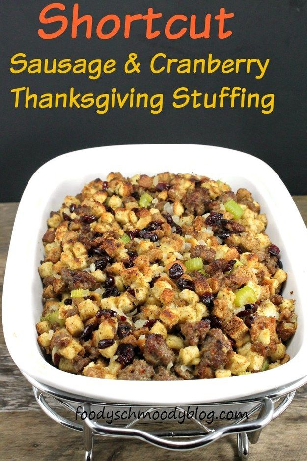 Shortcut Sausage and Cranberry Stuffing | Cranberry ...