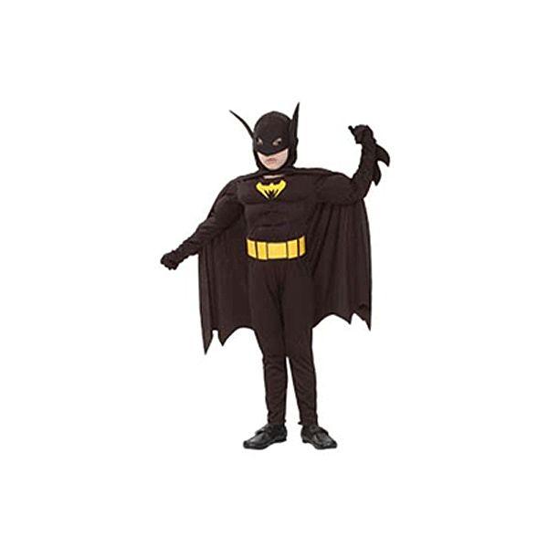 Batman kostuum gespierd voor jongens. Stoer Batman kostuum voor jongens bestaande uit een gespierde jumpsuit, cape en vleermuizen masker. Carnavalskleding 2015 #carnaval