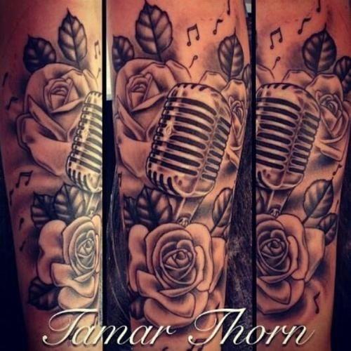 Tattoo Music Note Microphone Tattoo Ink Ideas Rose Sleeve Tattoo ...