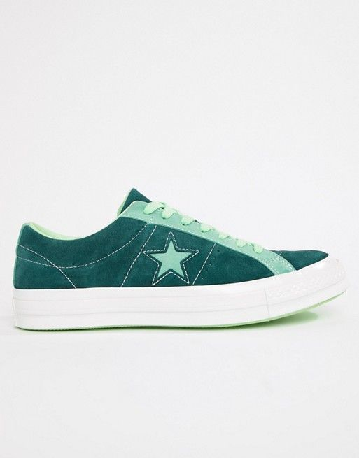 8390c8207fea Converse One Star Ox Sneakers In Green 161614C in 2019