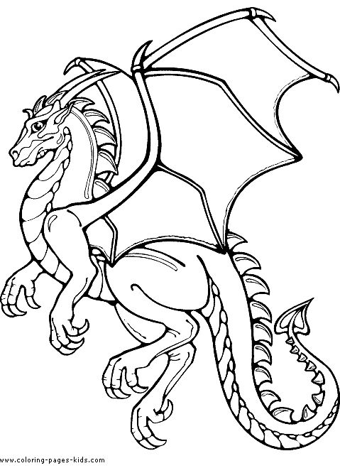 Medieval Dragons | Dragons coloring pages and sheets can be found in the Dragons ...