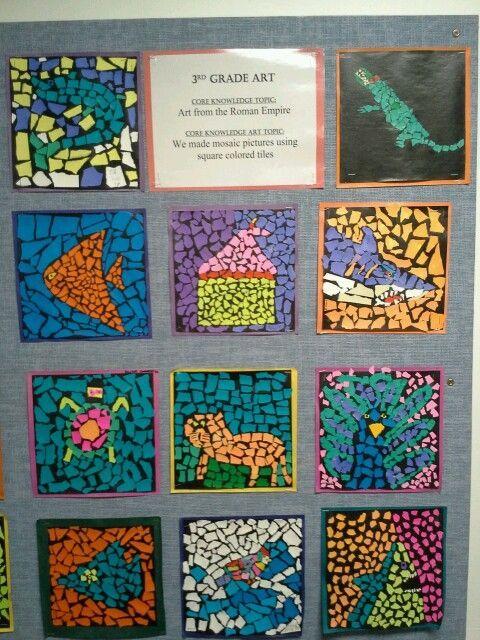 3 rd grade torn paper mosaics Byzantine art http://www.timelinestaircase.com