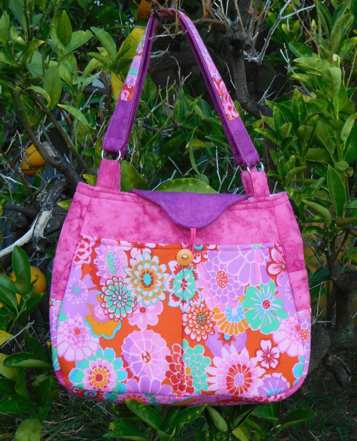Custom made bag Pretty'n'Pink by AnimalhouseQuilts on Etsy