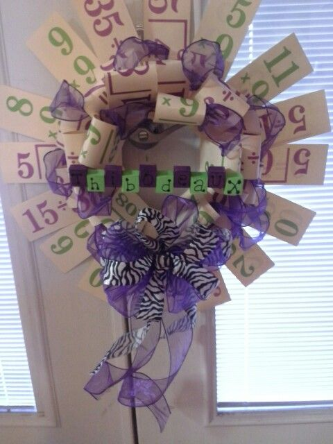 7th Grade Math Classroom Decorations ~ Best wreaths for front door images on pinterest
