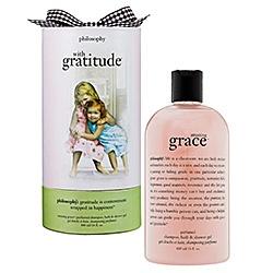 Amazing Grace by Philosophy - beautiful! Great for skin, shaving, even washing your hair! - #4: Gift Ideas, Gratitudetm Sephora, Philosophy, Amazing Grace, Shower Gel, Gratitudetm Shampoo, Products