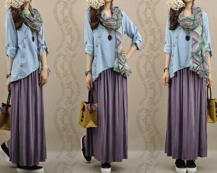 Women Tops 2016 New Blouse Shirts Fashion Loose Plus Size Linen Blouse Oblique Button Irregular Shirt Female Denim Blouse