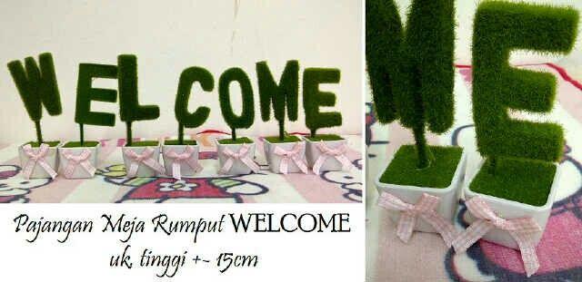 #pajangan #rumput #welcome @ 130.000