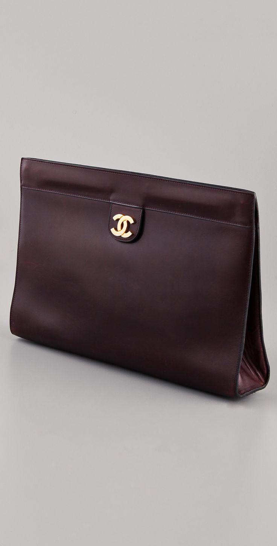 WGACA Vintage Vintage Chanel CC Clutch   SHOPBOP