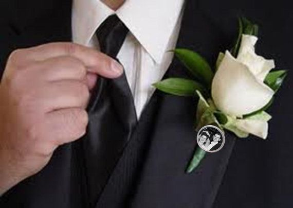 Photo Boutonniere Pin Groom Father of the Bride by jYOUlry on Etsy, $15.00
