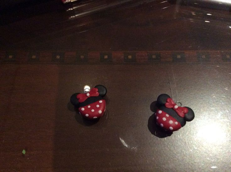 Mini disney polymer clay. Fimo. Earrings DIY