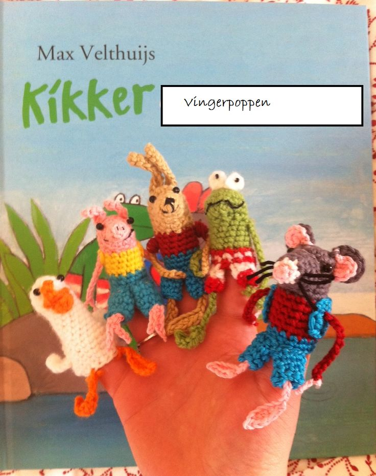 Fingerpuppets Frog and Friends - Max Velthuijs - Pattern  NEED TO MAKE THESE!