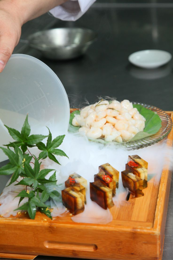 No dish is complete without some dry ice! Don't you agree?  #giveaway #prize #contest #hangzhou #china #foodie #recipe #dishes #specialty #cuisine #food #orange #shrimp #longjingtea #tea #shrimp #seafood #savory #delights