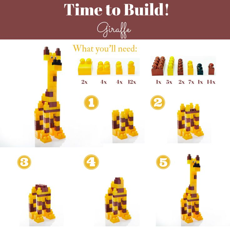 Can you build a giraffe as high as you can reach? Here's our how-to guide! :) #MegaBloks #TimetoBuild #DIY #Acitivity #Animals #Building #Blocks